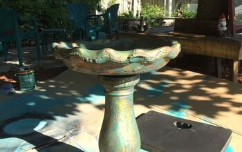 How I Painted a Cement Birdbath