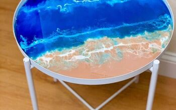 Design a Tray Table With Resin Ocean Art