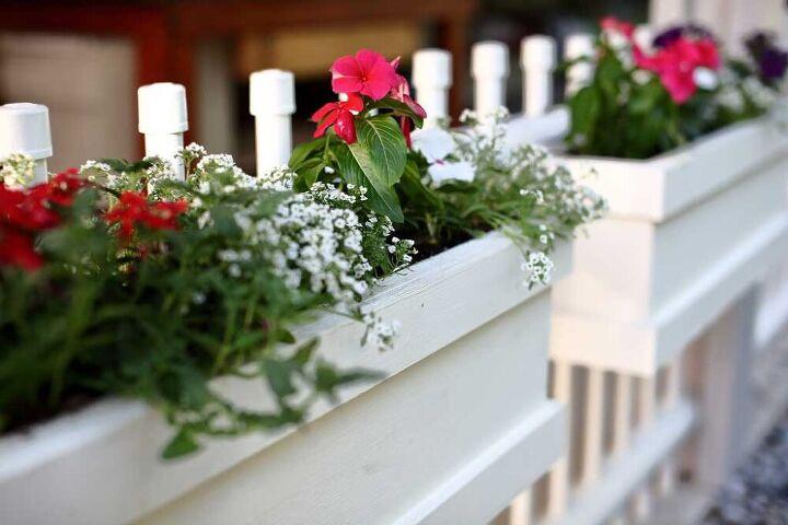 how to build a diy flower planter box