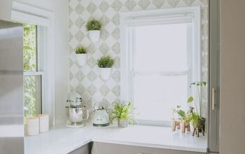 Stencil Tile Backsplash