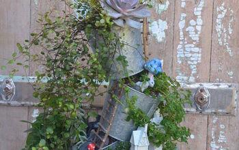 Tipsy Planter Fairy Garden
