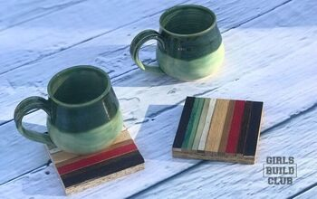 Mini Wood Mosaic Coaster