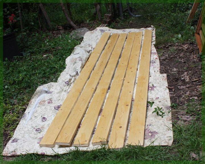 a footbridge from a futon frame