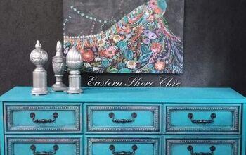 Peacock Inspired Dresser