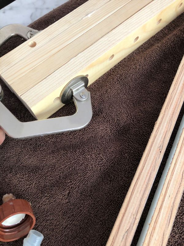 diy wood plate rack