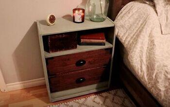 Turn a Plain IKEA Rast Dresser Into a Rustic Farmhouse Nightstand