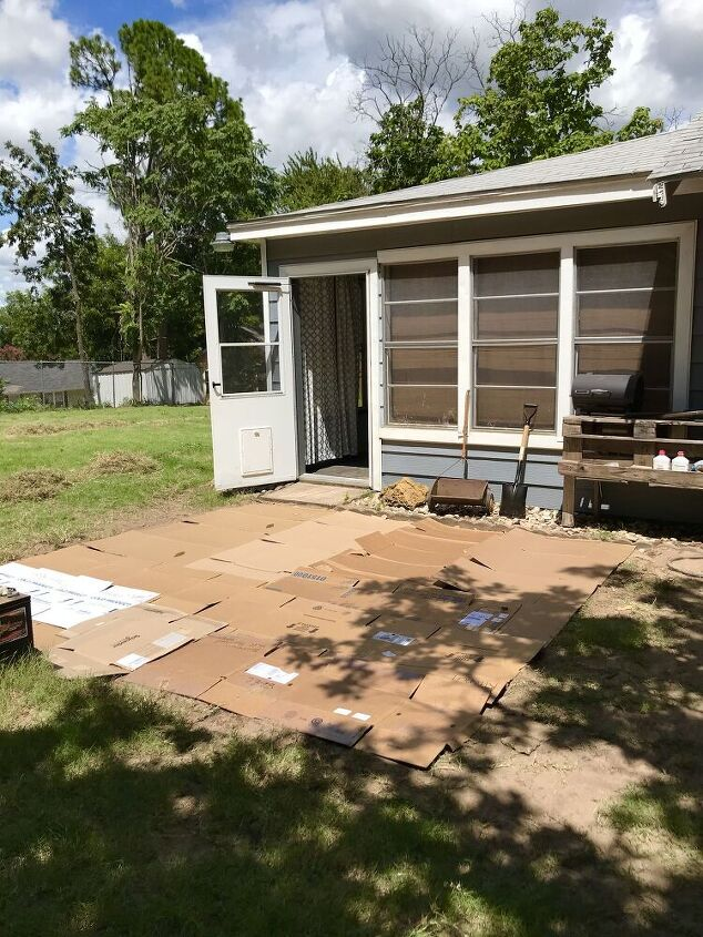 our diy paver patio with new decor