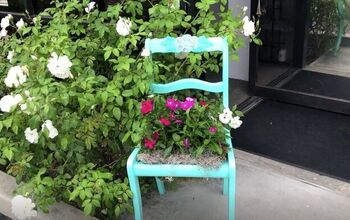 Turn an Old Chair Into a Bright New Chair Planter