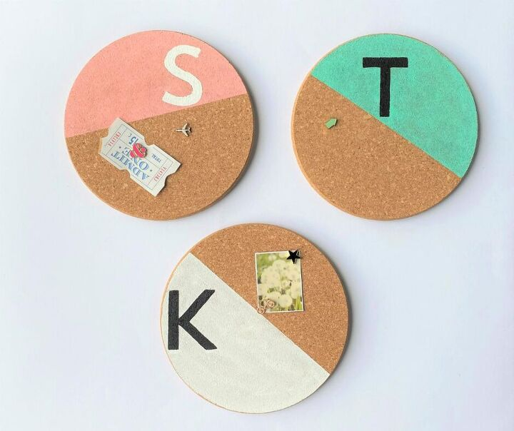 diy painted corkboards