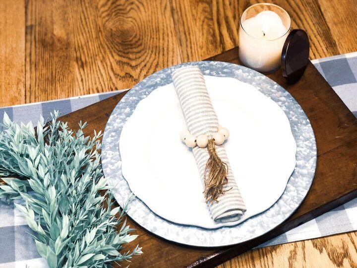 diy wooden bead tassel napkin rings kirklands napkin ring dupes