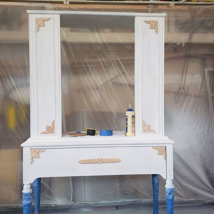 vintage china cabinet makeover yes another one