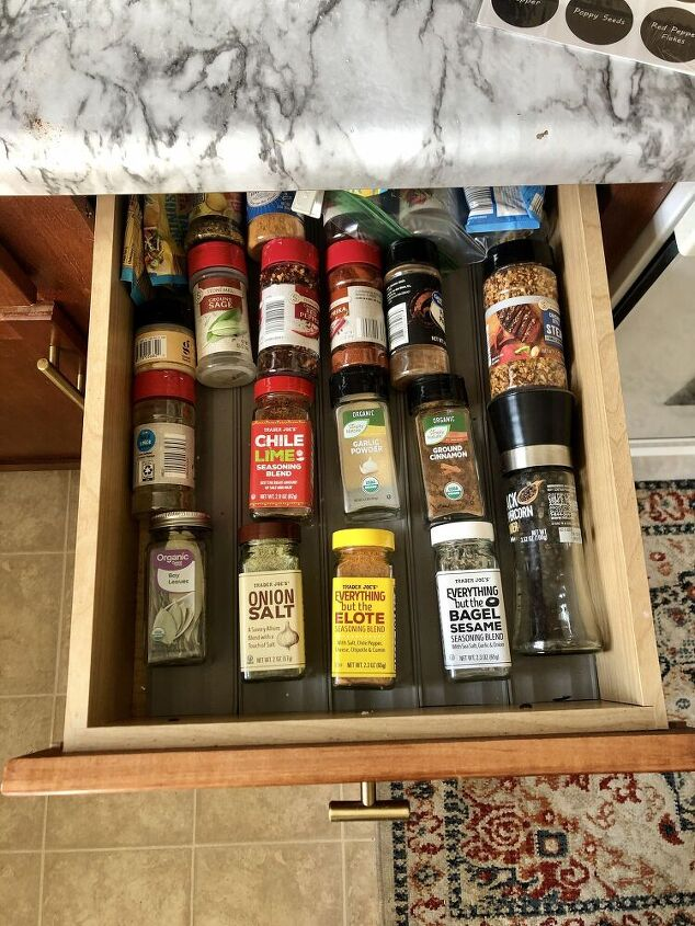 spice drawer organization, Before not too terrible but could be better