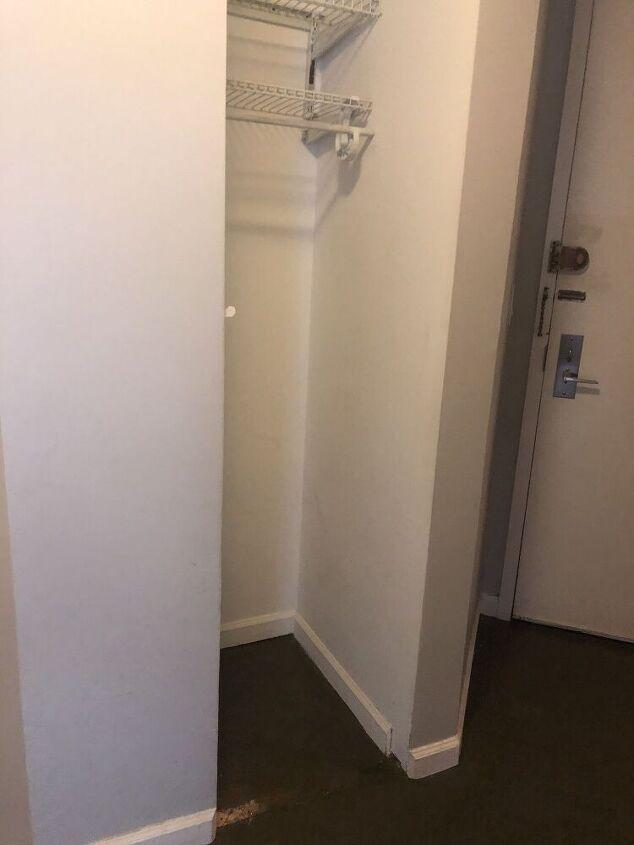 q very narrow and tall closet needs a door