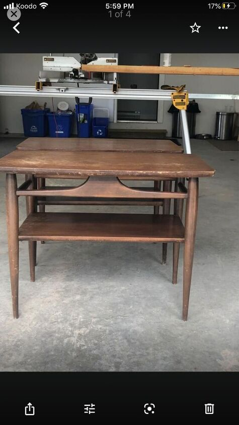 mcm accent table upcycle