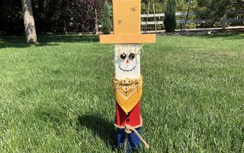 How To Make A Fence Post Scarecrow