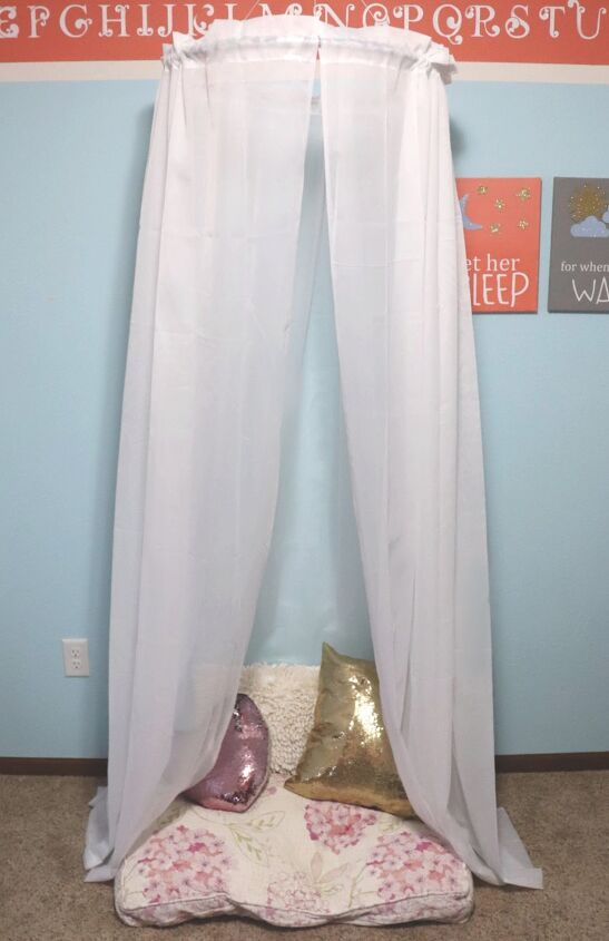 s 12 awesome diy kid s room ideas, Dreamy Sheer Bedroom Canopy