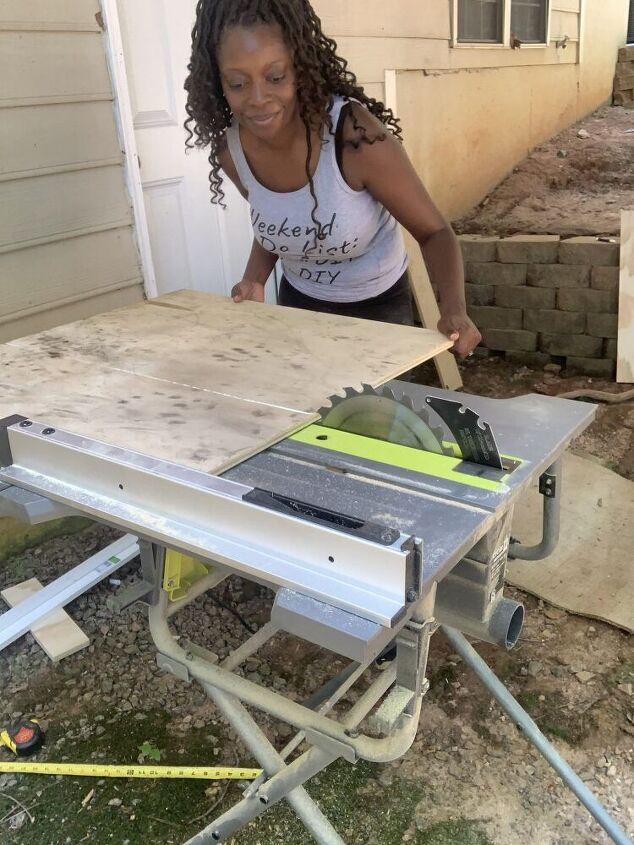 diy ladder desk with shelves