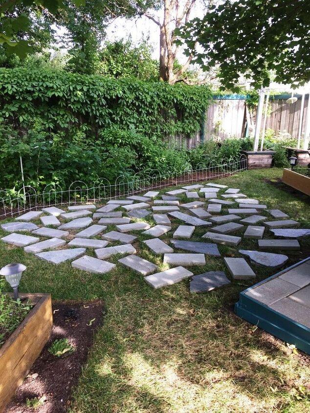 i created a heart shaped patio
