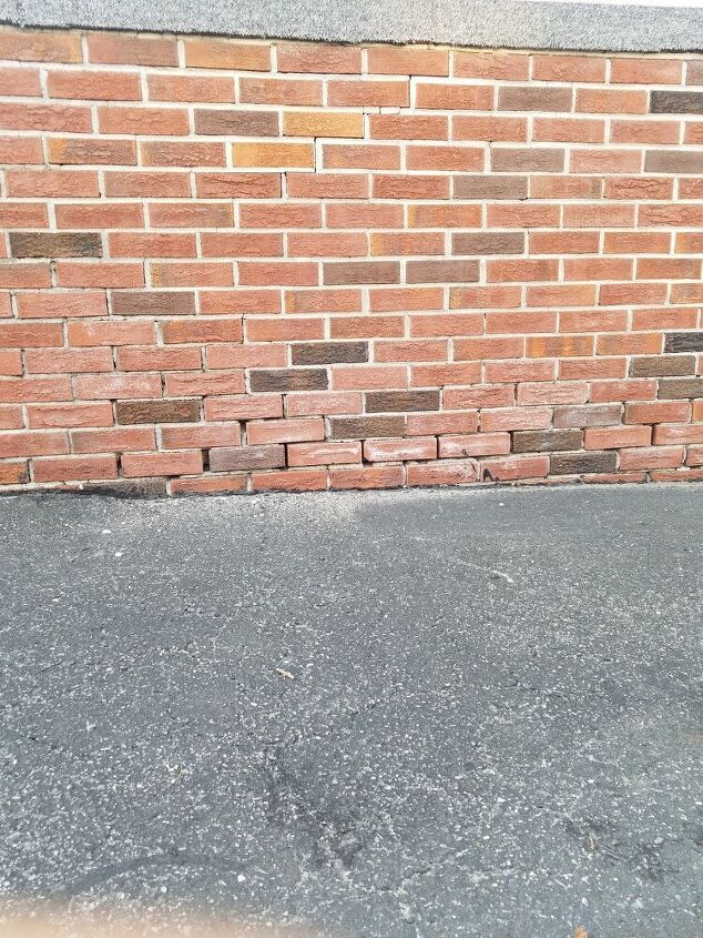 q how do i go about fixing spaces in between brick