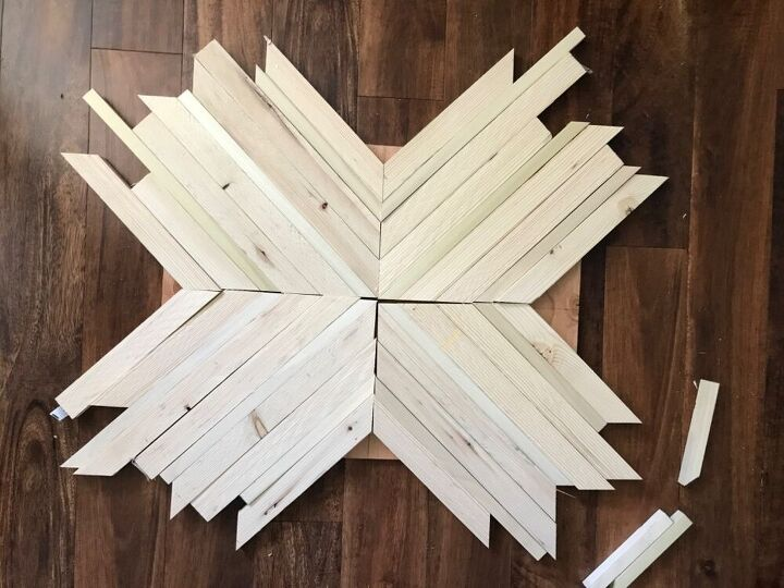 wood inlay end table