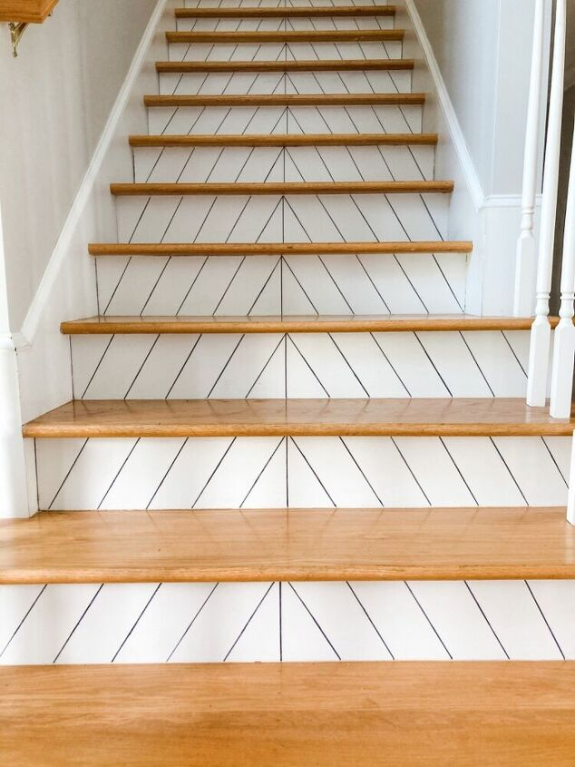 sharpie shiplap stairs