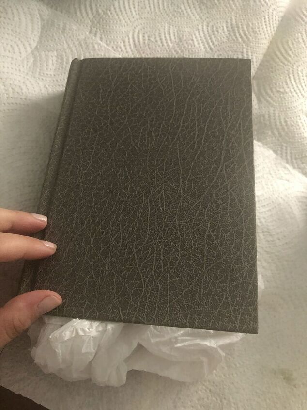 diy dirt rubbed books for decor display