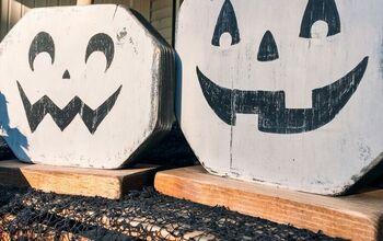 Scrap Wood Jack-O-Lanterns