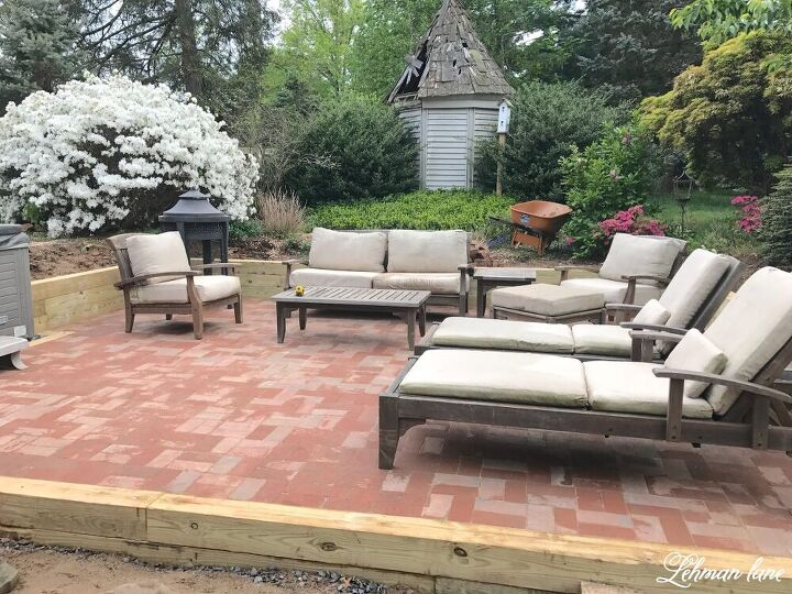 how to build a reclaimed brick patio