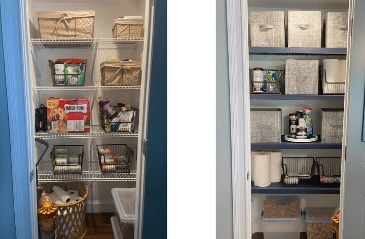 wire shelving makeover