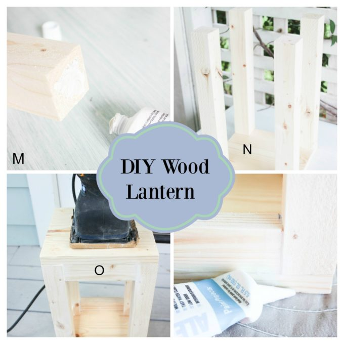 how to make a lantern from scraps of wood