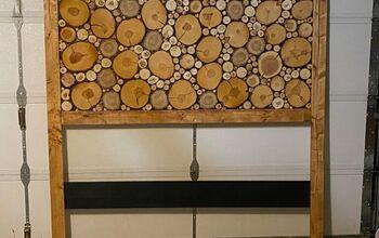 Colorado Wood Slice Headboard