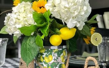 A Repurposed Bean Can Into a Lemony Vase