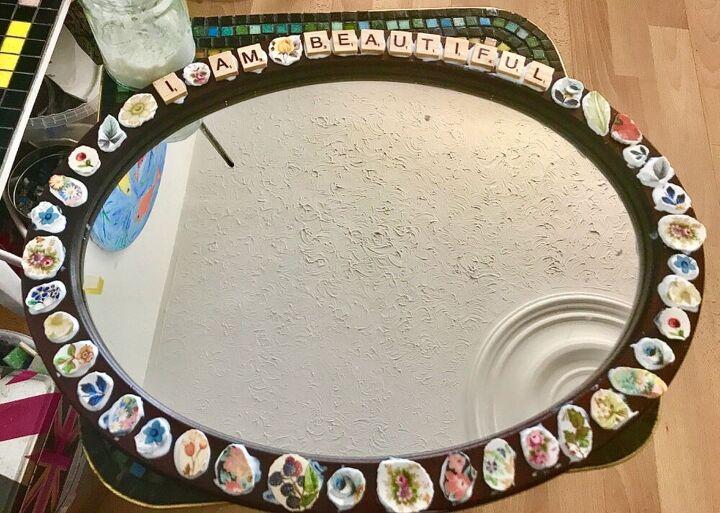 Glue pieces to frame