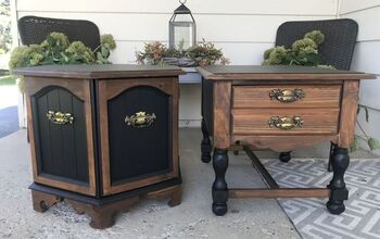 Drab to Fab Vintage End Tables