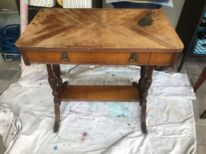 trash to treasure writing desk makeover