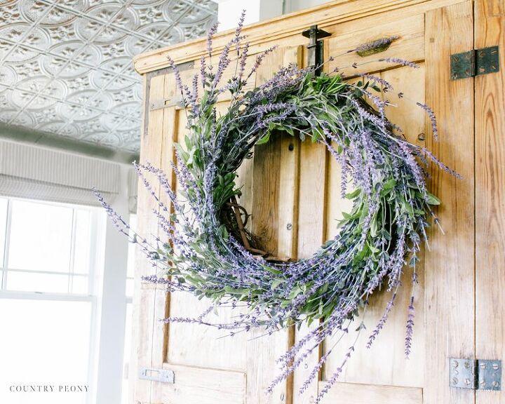 diy whimsical lavender wreath