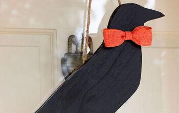 DIY Crow Fall Door Decor