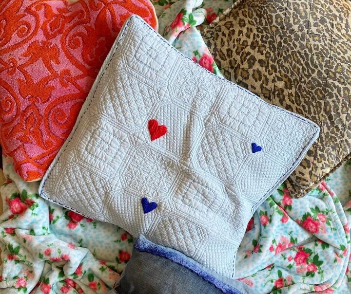 diy embroidered throw pillow