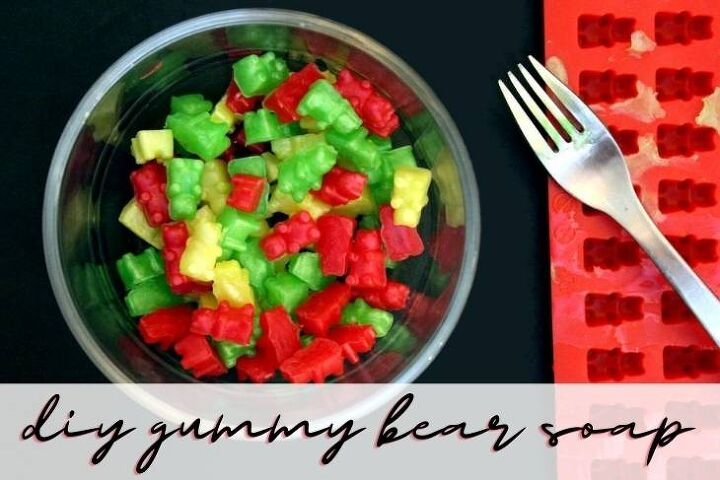 diy gummy bear soaps encourage kids to wash their hands