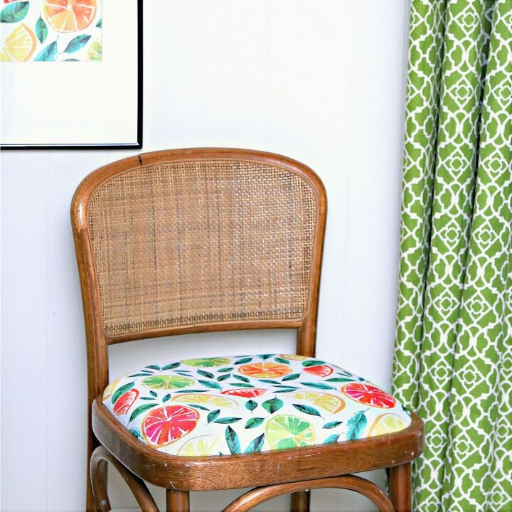 recover chair seats with cloth napkins