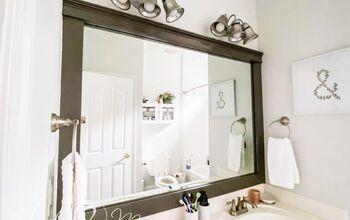 How To Make A Large Bathroom Mirror Redo To Double Framed Mirrors And Cabinet Diy Hometalk