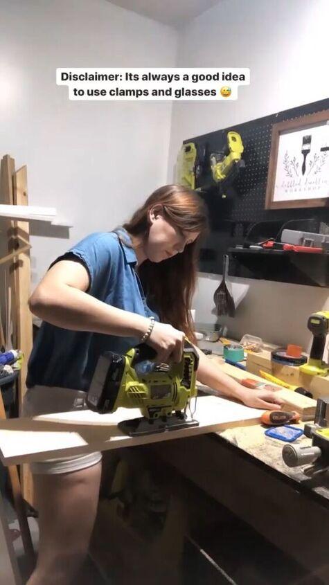 scrap wood stool