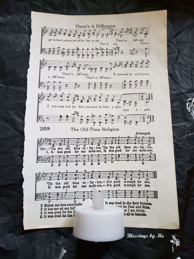 hymnal page candles