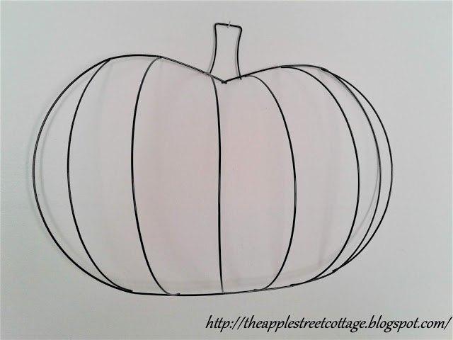 wire pumpkin wreath