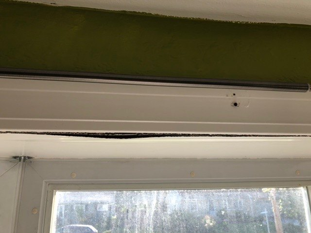 q how do i repair the interior top panel of my bay window