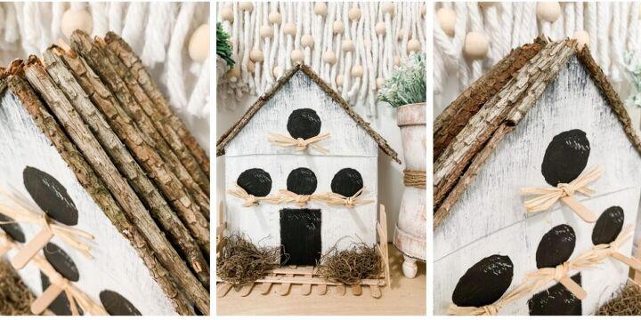 cereal box birdhouse diy