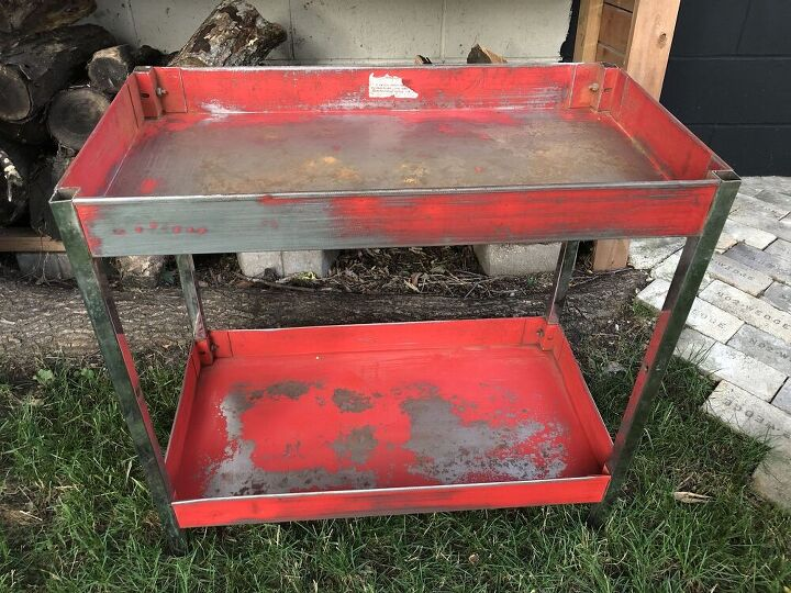 upcycled grilling table