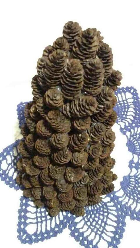 miniature fall pine cone tree
