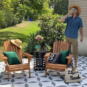 Stenciled Patio Makeover