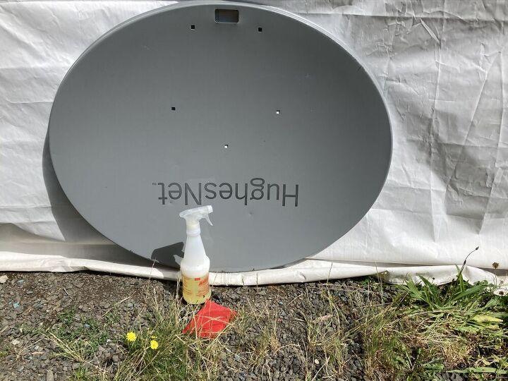 satellite dish sign